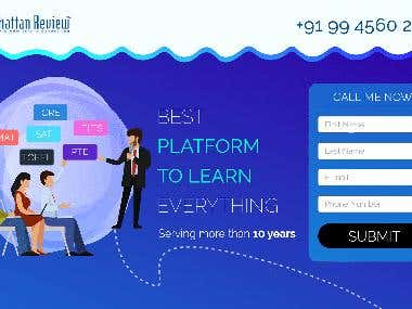 GRE, Tofel, Lead generation landing pages