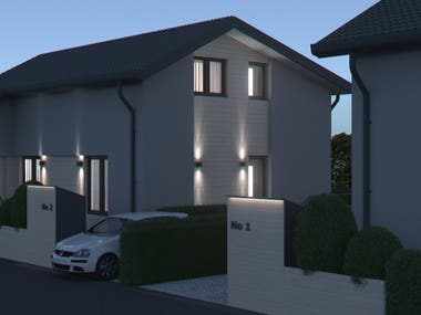 Some examples for architectural exterior renderings.