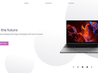 I have used HTML, Css , BootStrap to make the website. Its a simple website where i have added configuration of laptop and option to buy it. A simple landing page.