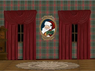 Christmas Illustration For Theater Background