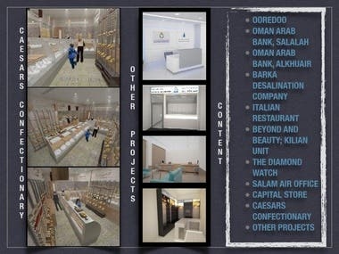 These are samples of my 3D Interior Design projects.