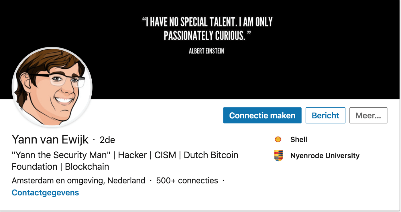 linkedin profile example