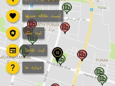 Quick and easy search of the property of TEHRAN on the map. by using the app all properties are displayed on the map and you change the location and size of the search area, you can easily find buy, sell, mortgage or rent.  This Application also use AR(Augmented Reality) to show the nearest properties depend on your location.  The interfaces of this program is Persian(Farsi).