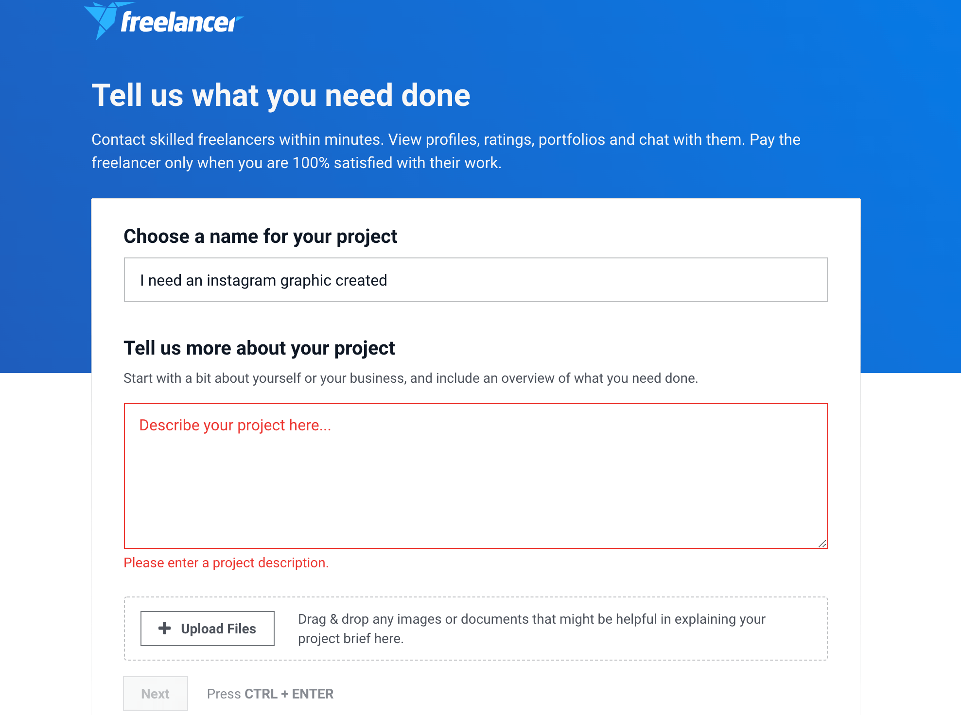 instagram post a project