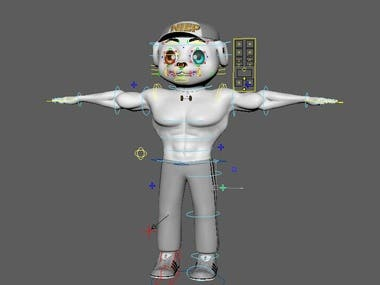 1: Convert it from 2D to 3D. 2: Texturing. 3: Advanced Rig( Face Rig).