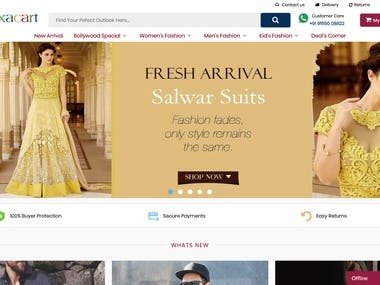 online store with rich built-in functionality: integration with payment and shipment services; warehouse managing; marketing and SEO tools; and mobile-friendly stores.