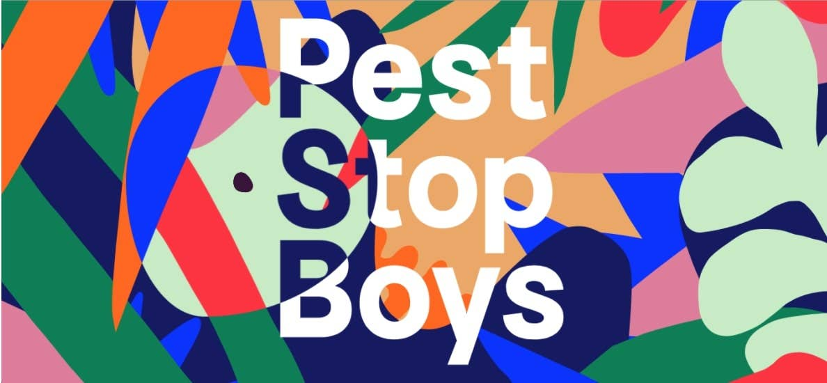 pest stop boys single page website