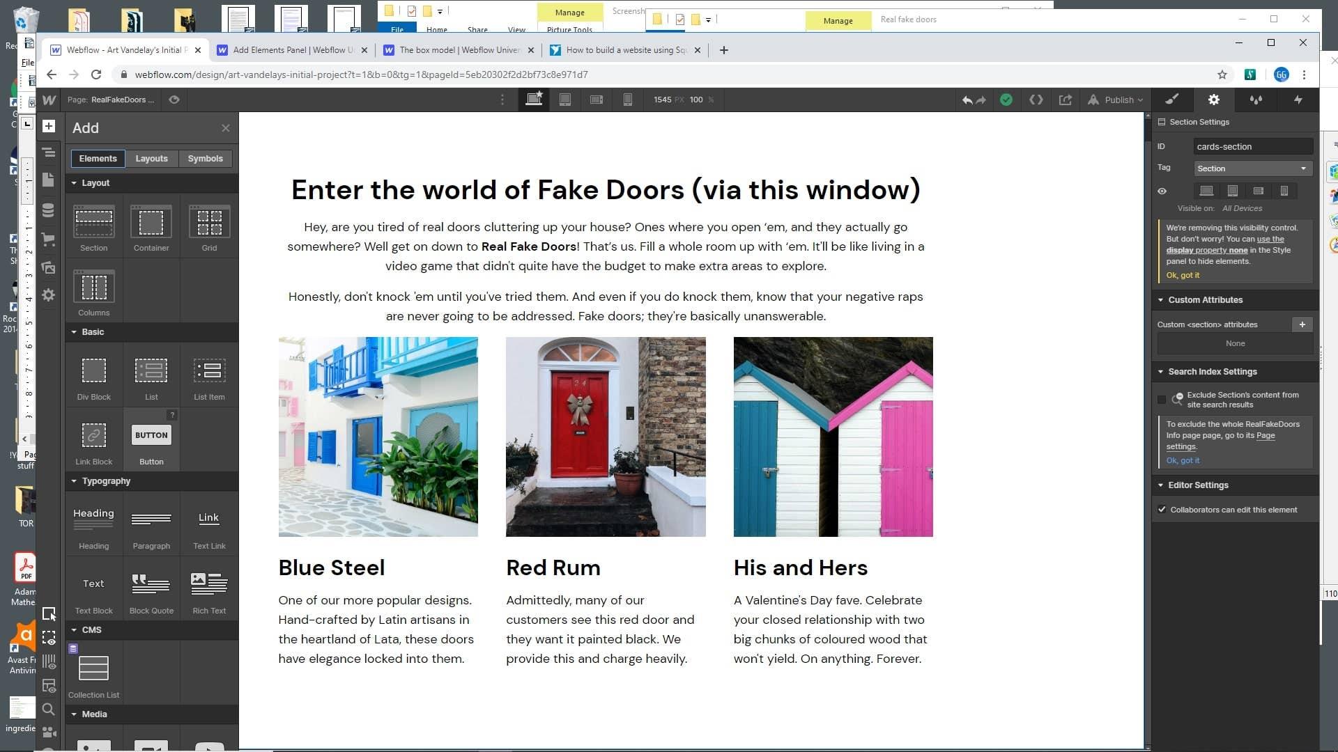 Webflow adding images