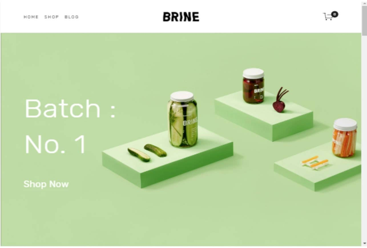 squarespace template brine