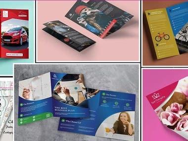 banner,brochure,leaflet graphics design samples.