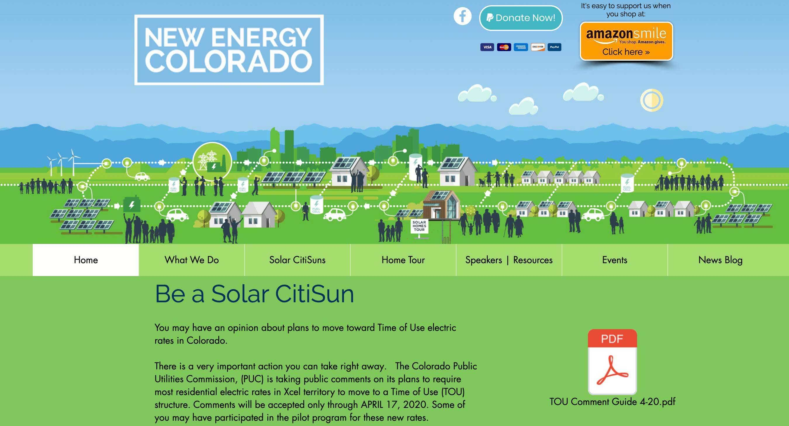 New energy colorado wix design