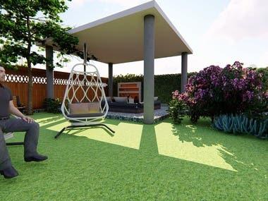 a courtyard design for recreation