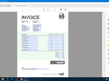 CV, Invoice, Order Form, PDF Editing demo of mine