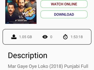 Watch  Online Movies is a Very good app, this app is easy to use. Lest find and fell new experience in watching movies trailers with this app. this app has a many categories.