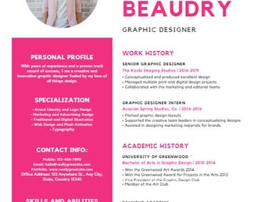 Strong coloured Resume Style Draft for the sake of layout. Photo can be added Colours can be changed ATS friendly Design delivered in PDF file (unlimited reviews and updates) Spanish and English content