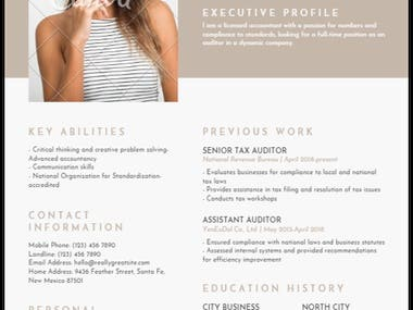 Vintage Resume Style Draft for the sake of layout. Photo can be added Colours can be changed ATS friendly Design delivered in PDF file (unlimited reviews and updates) Spanish and English content