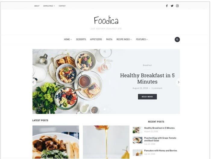 foodica free wordpress theme
