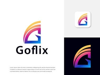 Goflix and GF letter logo design.  Interested in working with me? Feel free to contact me: