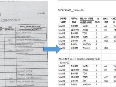 PDF conversion of Excel