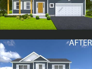 Below is the final image per a client's request to make adjustments to a 3D illustration.  The original image is also added for context.
