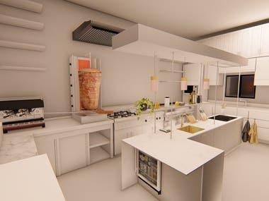 some kitchen design i did