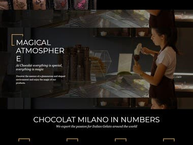 A website of well established brand for selling chocolate products.