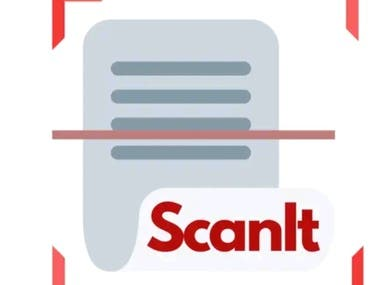 This app is available on Google playstore its link is   https://play.google.com/store/apps/details?id=com.camInnovators.scanitindia .It is Document scanner app where you can convert a set of image into PDF with auto cropping feature and Image enhancing features. It has also an OCR feature which extracts text into image.