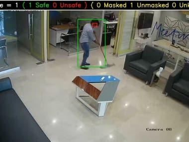 Real Time Social Distancing & Mask Detection Alert System