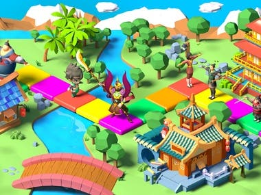 Design was made for a gaming company to make it look cute and attractive for children
