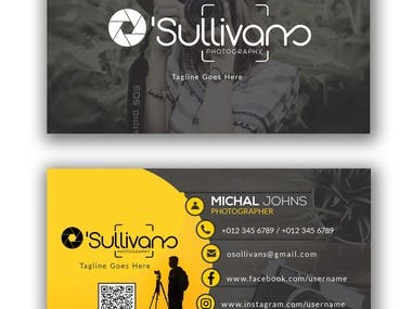 This is the example of a Logo, Business card along with a photo watermark.