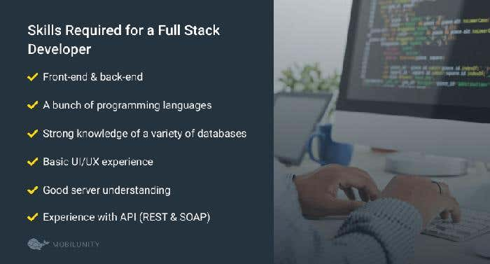 required skills for a full stack developer