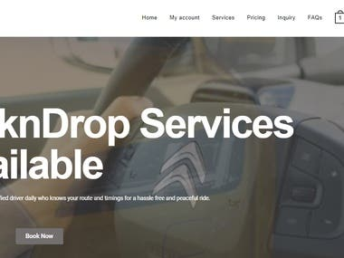 Fully responsive pick and drop website