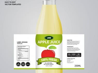 My product packaging and label design