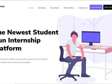 I have made a few websites  https://esyresource.com https://internstorm.com