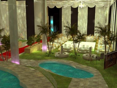 I made the project of the animation and architect for the event of the party of 'my 15 years'