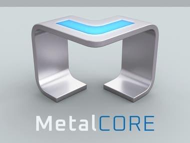 3D Logo Design for Company Metal Core