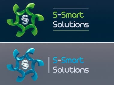 Logo Design for S-Smart Solutions Company with 2 color versions.