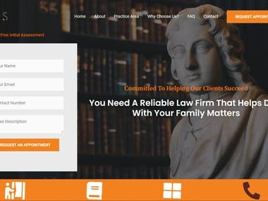 Law Firm Website for USA & Canada