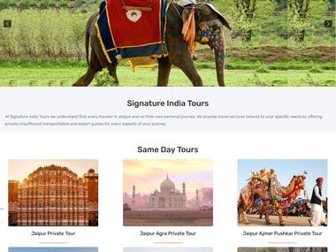 Tour and Travels Website