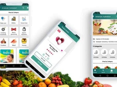 It is a readymade multi vendor grocery app developed in Ionic 4  Anroid app. Wallet, Referral Promo codes.  Payment gateway integrated