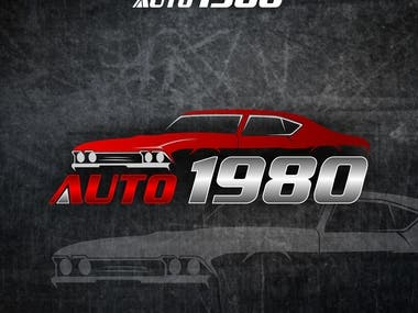 This logo shows a classic car company but has modern American muscle.