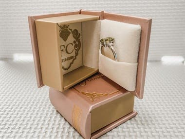 Designed a unique ring box in the shape of a book