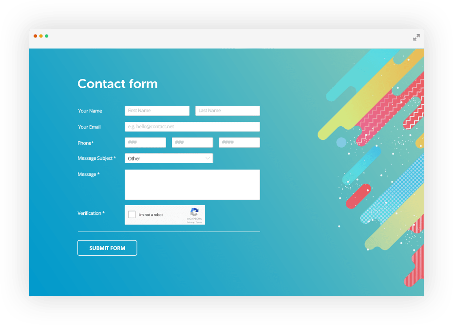 I create online forms for capturing lists and leads for sales funnel, to nurture your list through awareness stage to purchase stage.