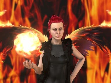 Flame Girl..My Best Friend Along my way in 3D World i Called She (Samrr) a Good Friend