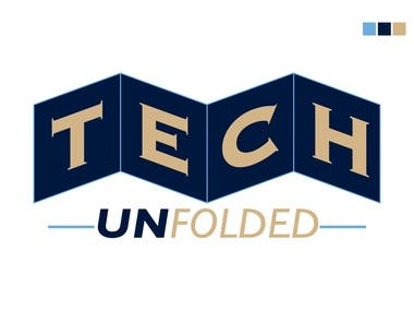Logo Designed for client Brand name : Tech Unfolded