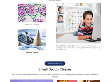 We have completed website design and development related work for this website.