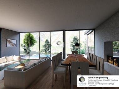 Detailed and Hyper-realistic 3D visualizations of Interior design