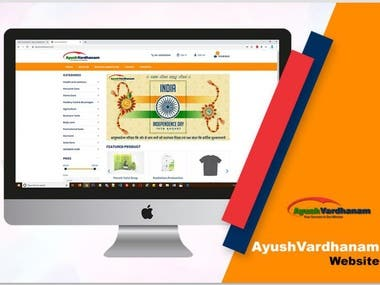 This is the website of Ayush vardhanam products
