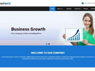 I can provide beautiful and responsive website UI,template.