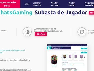 Translation of the website https://whatsgaming.net/ from English to Spanish.  Traducción de la página web https://whatsgaming.net/ del inglés al español.